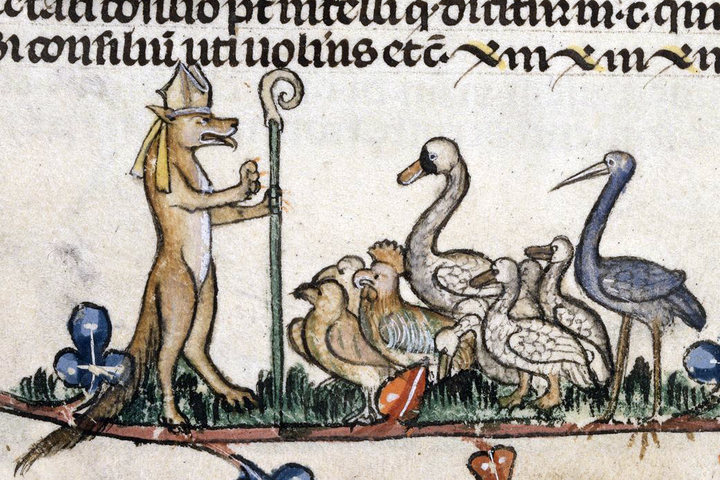 средневековая карикатура