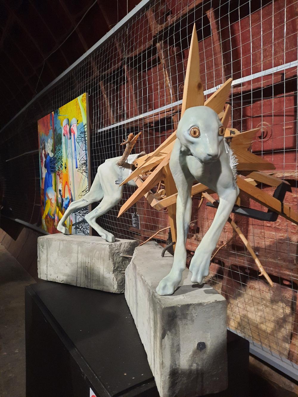 Выставка Hidden Places в Бункере 703. Фрагмент экспозиции.