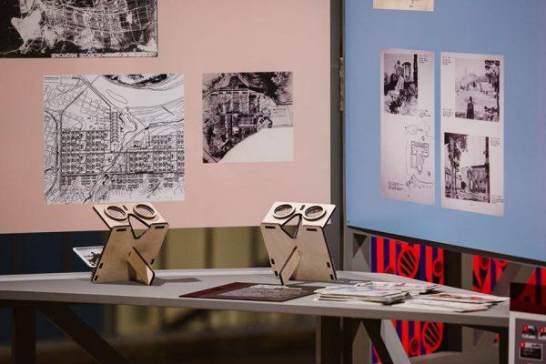 гмент экспозиции Город завтрашнего дня в Новой Третьяковке. Архитектура советского модернизма