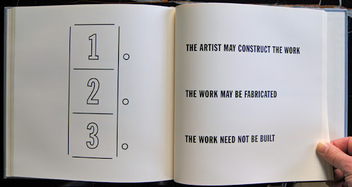 Artist's Book by Lawrence Weiner - Displacement