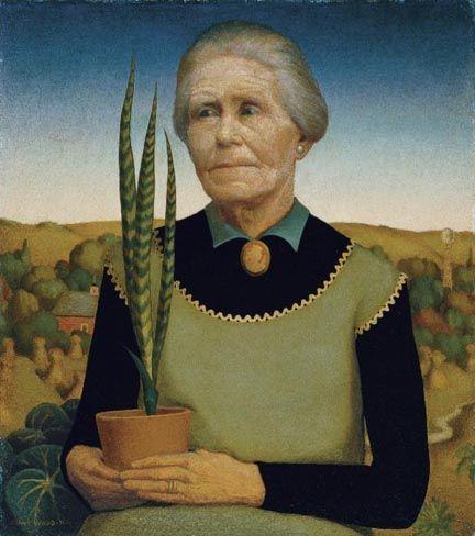 Грант Вуд. Женщина с растением. 1929. Риджионализм