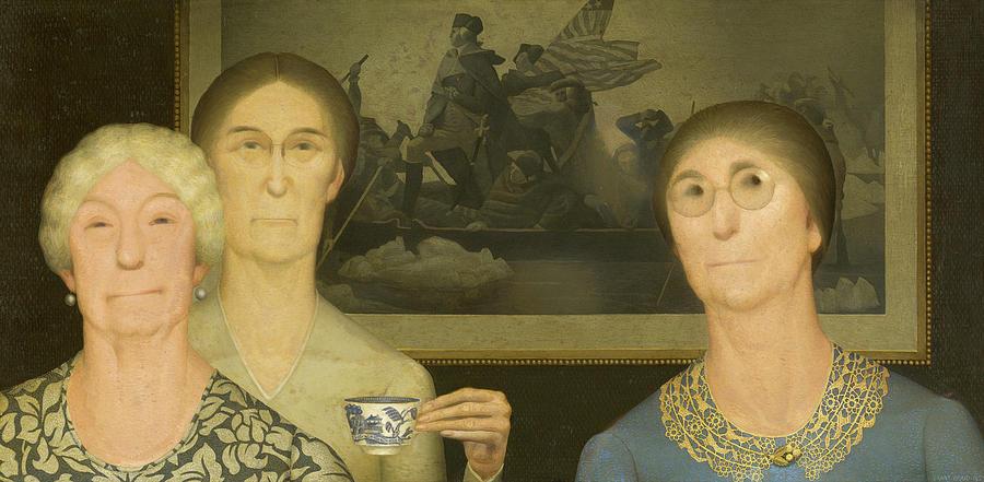 Грант Вуд. Дочери революции. 1932 американский риджионализм