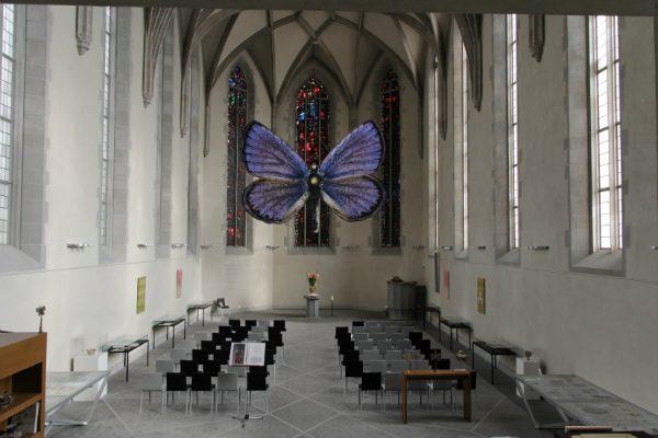 Инсталляция Евгения Антуфьева «Вечный сад» в церкви Вассеркирхе