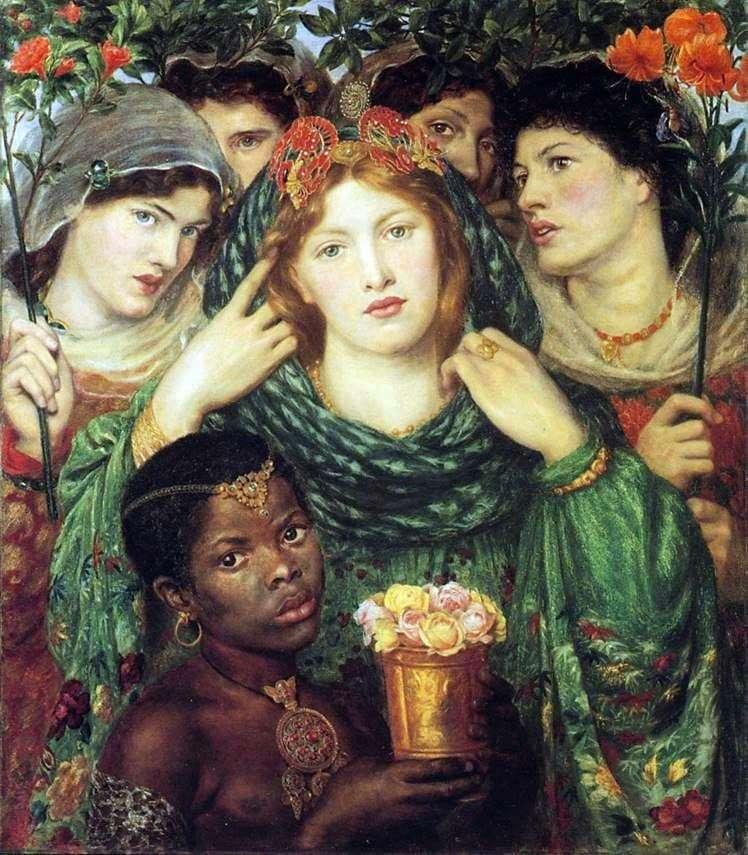 Дантэ Габриэль Россетти. Возлюбленная (Невеста). 1865
