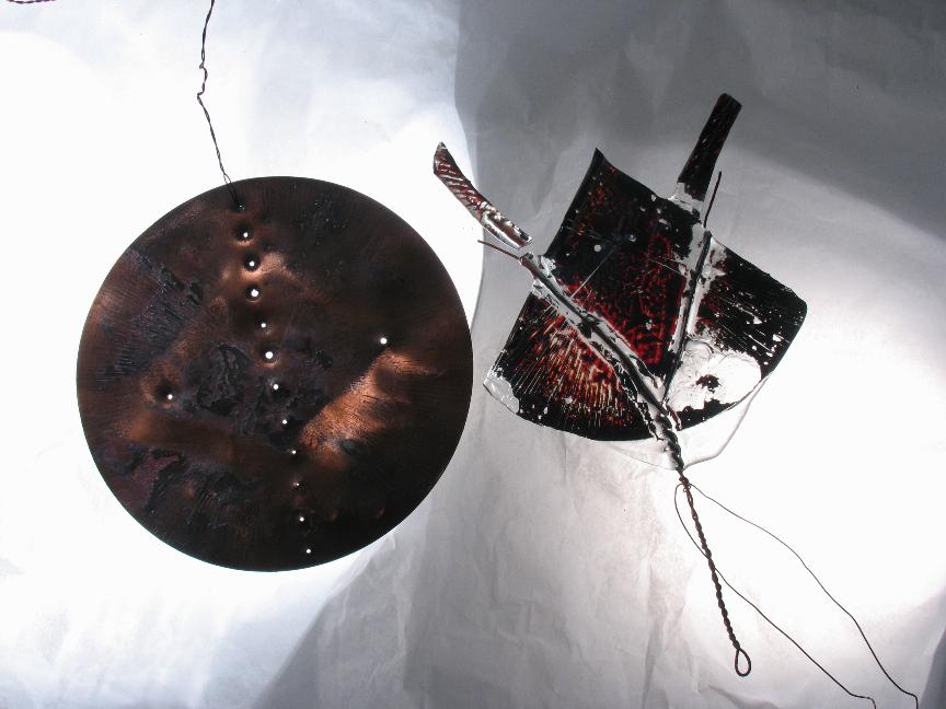 """""""Луна"""" из цикла """"Хазарский словарь"""", медь, стекло, спекание, 2004 г."""