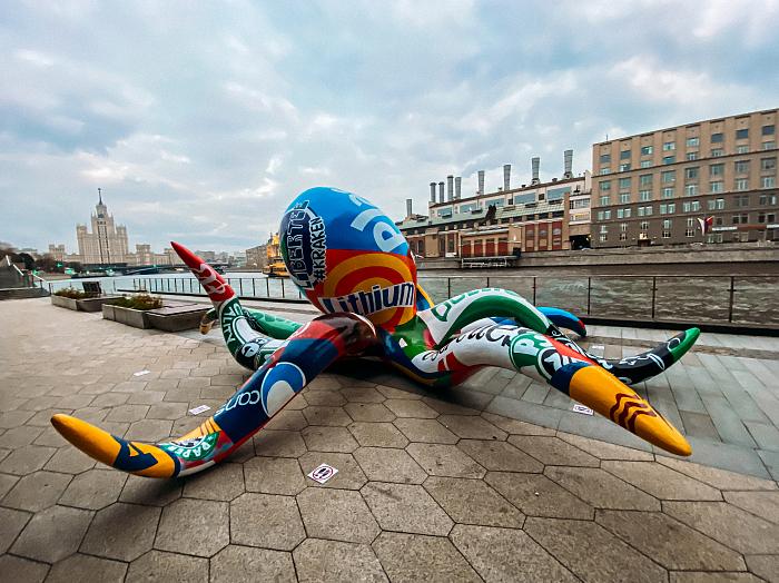Инсталляция #KRAKEN Михаила Цатуряна