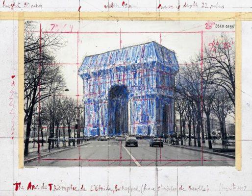 Эскиз обернутой Триумфальной арки