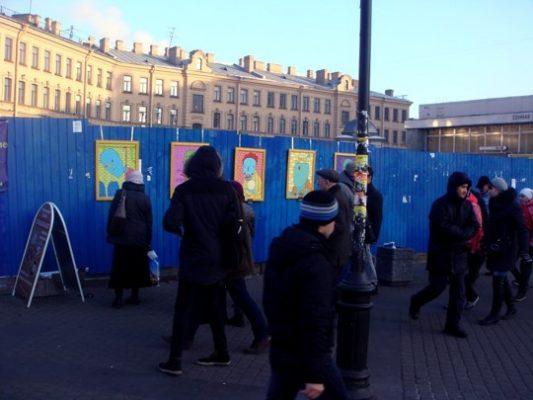 Миша Маркер Выставка на Сенной площади 2014 г.