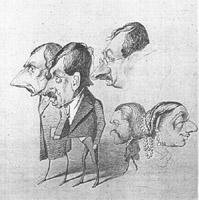 карикатура Клод Моне