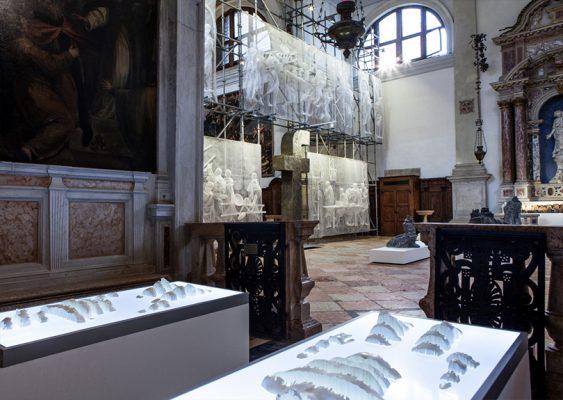 Инсталляция Coversation в церкви св. Антонио