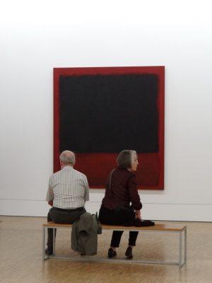 Марк Ротко, Без названия (черный, красный поверх черного на красном), 1964 г. Музей Помпиду